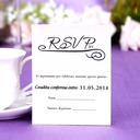 Personalized Simple Pearl Paper Response Cards (Set of 50)