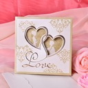 Heart Stil Tri-Fold Invitation Cards (Sett Av 50)