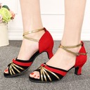 Women's Suede Sandals Latin With Hollow-out Dance Shoes