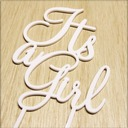 It's a Girl Acrylic Baby Shower Cake Topper