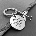 Personalized Stainless Steel Keychains With Tag