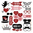 Photo Booth Props Paper Heart Design/Love Design Photo Booth Props Wedding Decorations