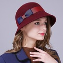Ladies' Glamourous/Elegant/Simple Wool With Bowknot Floppy Hats