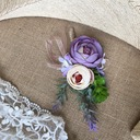 Round Linen Rope Boutonniere (Sold in a single piece) -
