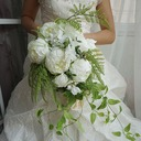 Elegant Cascade Satin Bridal Bouquets (Sold in a single piece) - Bridal Bouquets