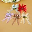 Lovely Bowknot Rose shaped Satin Decorative Accessories (set of 50)