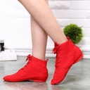 Women's Canvas Boots Jazz With Lace-up Dance Shoes