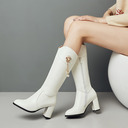 Suede Leatherette Mesh Chunky Heel Flats Wedges Flip-Flops Riding Boots With Applique Chain shoes