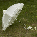 Vintage Style Plastic/Stainless Steel/Polyester/Lace Wedding Umbrellas