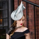Ladies' Elegant Polyester With Feather Beret Hat/Kentucky Derby Hats