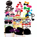 Funny Mask Card Paper Photo Booth Props (58 Pieces)