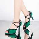 Women's Leatherette Suede Heels Sandals Latin With Ankle Strap Dance Shoes