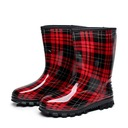 Women's PVC Wedge Heel Closed Toe Boots Ankle Boots Rain Boots With Others shoes