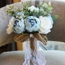Classic Round Satin Bridal Bouquets/Bridesmaid Bouquets (Sold in a single piece) - Bridal Bouquets