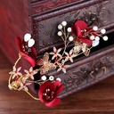 Ladies Special Rhinestone/Alloy Combs & Barrettes With Rhinestone (Sold in single piece)
