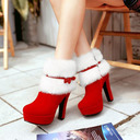 Women's Suede Stiletto Heel Boots With Bowknot shoes