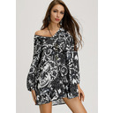 Cotton Blends With Print Above Knee Dress (199208260)