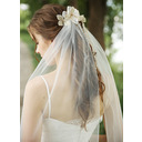 One-tier Cut Edge Waltz Bridal Veils With Beading/Rhinestones (006250857)