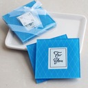 Elegant Glass Coaster With Ribbons (Set of 2 pieces)
