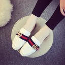 Women's Leatherette Flat Heel Sandals Flats Closed Toe Slingbacks With Buckle shoes