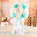 Refined Free-Form Satin Bridal Bouquets -