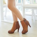Women's Suede Leatherette Stiletto Heel Pumps Boots Ankle Boots With Zipper shoes