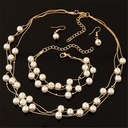 Nice Alloy Imitation Pearls With Imitation Pearl Ladies' Jewelry Sets