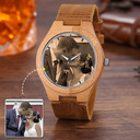 Groomsmen Gifts - Personalized Custom Engraved Photo Engraved Bamboo Watches