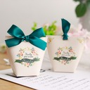 Sweet Love Other Card Paper Favor Boxes With Ribbons (Set of 50)