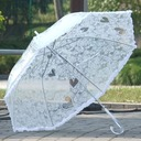 Elegant Bride And Groom/Heart Shaped Plastic/Stainless Steel/Lace Wedding Umbrellas