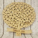 """Our Wedding Tree"" Wood Guestbook"