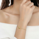 Ladies' Unique Gold Plated/925 Sterling Silver Crystal Bracelets For Bride/For Bridesmaid