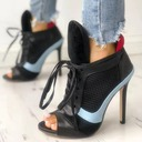 Women's PU Stiletto Heel Pumps Peep Toe أحذية