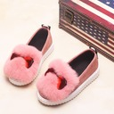 Girl's Closed Toe Loafers & Slip-Ons Suede Flat Heel Flats