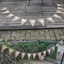Simple/Classic/Triangle Lovely/Elegant Linen Wedding Ornaments (12 Pieces)