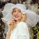 Ladies' Beautiful/Eye-catching Linen With Rhinestone Floppy Hats/Beach/Sun Hats/Kentucky Derby Hats (196250342)
