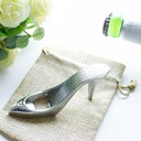 Cinderella High Heels Beer Bottle Opener in Burlap Bag Favors (Sold in a single)