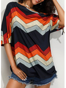 1/2 Sleeves Polyester One Shoulder Knit Blouses