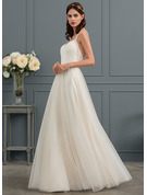 A-Line/Princess Sweetheart Floor-Length Tulle Wedding Dress