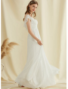 Chiffon Wedding Dress With Ruffle