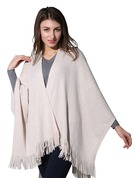 Solid Color/Tassel Oversized/attractive/Cold weather Cashmere Poncho