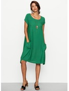 Cotton/Linen With High temperature setting Knee Length Dress