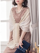 Floral Shawls Polyester Poncho
