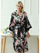 Charmeuse Bride Bridesmaid Floral Robes