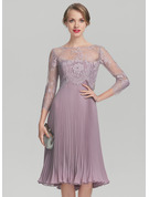 Sweetheart Knee-Length Chiffon Mother of the Bride Dress