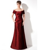 Trumpet/Mermaid Off-the-Shoulder Floor-Length Taffeta Holiday Dress With Ruffle