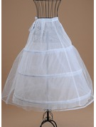 Women Tulle Netting/Satin Tea-length 1 Tiers Bustle