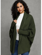 Couleur Unie Polyester Cardigans Pulls