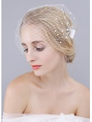 One-tier Blusher Veils With Faux Pearl