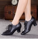 Women's Leatherette Real Leather Heels Character Shoes Dance Shoes